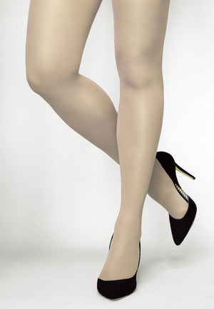 Concorde 60 Denier Coloured Opaque Tights in Ecru creamy white
