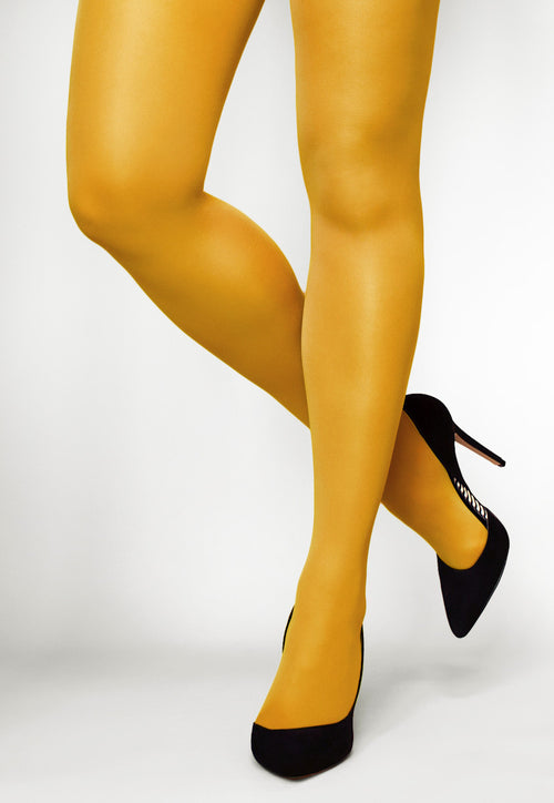 Concorde 60 Denier Coloured Opaque Tights in Giallo yellow