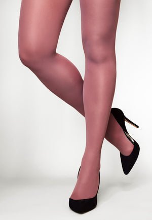 Concorde 60 Denier Coloured Opaque Tights in Malva pink lilac