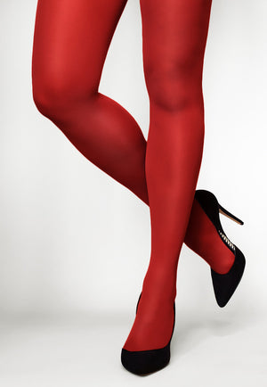 Concorde 60 Denier Coloured Opaque Tights in Red