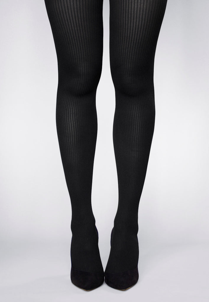 4af3d7dda0e Costina Ribbed Cable Knit Tights in Navy Blue