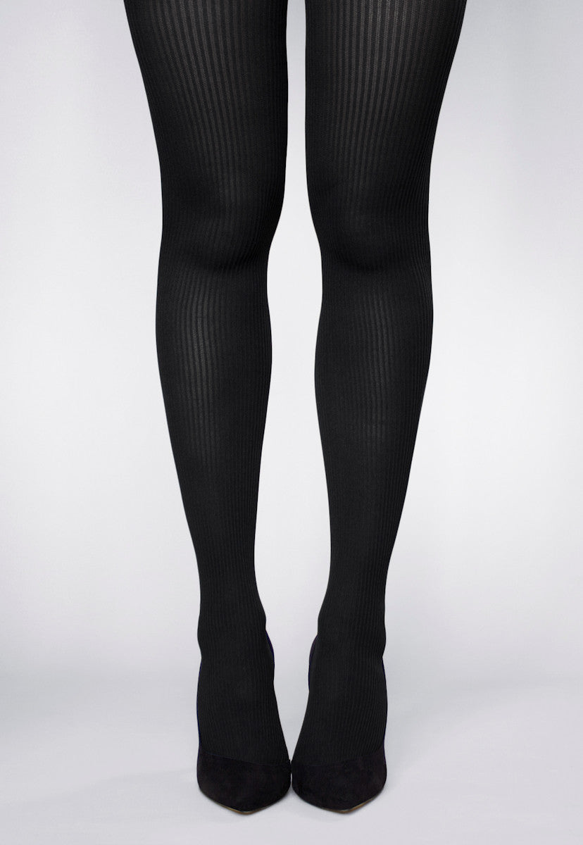 The Collection Grey Soft Ribbed Tights
