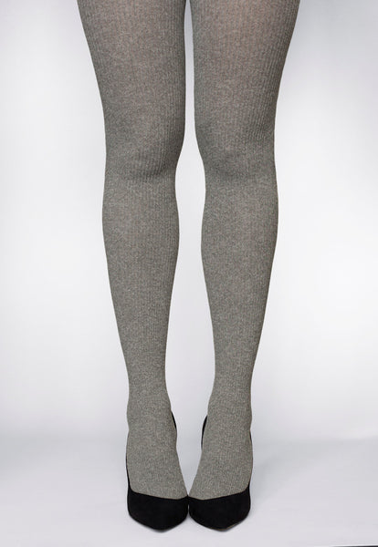 Costina Ribbed Cable Knit Patterned Tights By Veneziana At