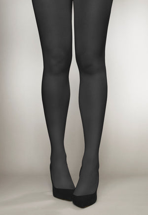 Cover 100 Den 3D Coloured Opaque Tights by Veneziana in grafitto grey