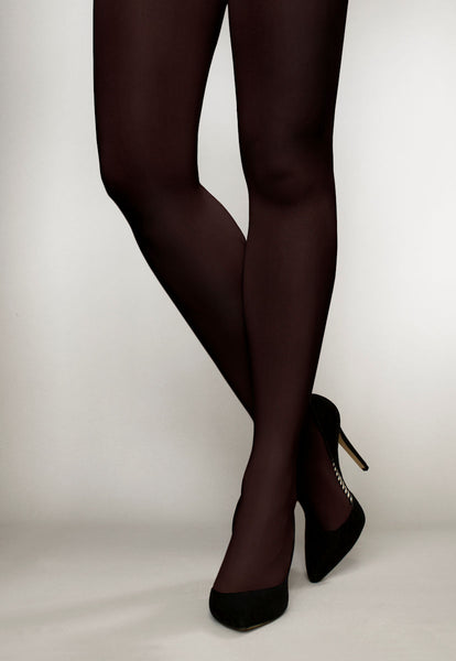 Cover 100 Den 3D Coloured Opaque Tights in Coffee brown