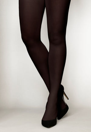 Cover 60 Denier 3D Matte Opaque Tights in Cappuccino dark brown