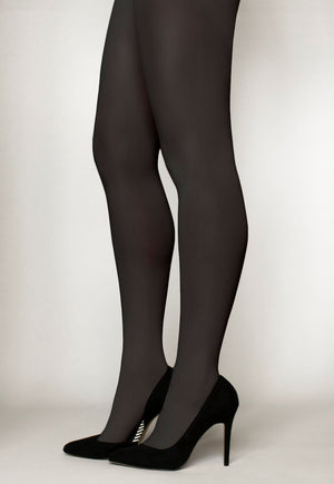 Cover 60 Denier 3D Matte Opaque Tights in Fume grey