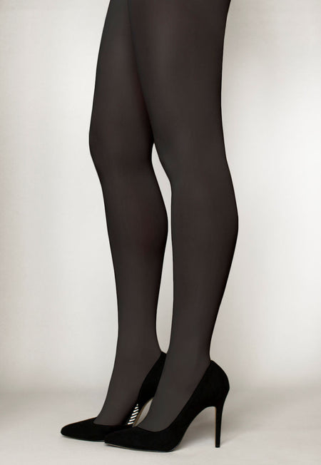 Rosa Flower Patterned Opaque Tights by Veneziana