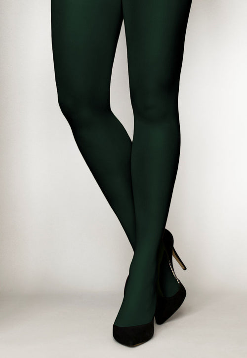 Cover 60 Denier 3D Matte Opaque Tights in Verde Botilia green