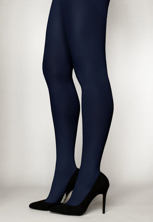 Cover 60 Denier 3D Matte Opaque Tights in navy blue