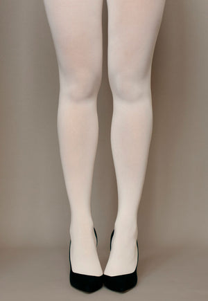 Cover 60 Denier 3D Matte Opaque Tights in Panna ivory cream white