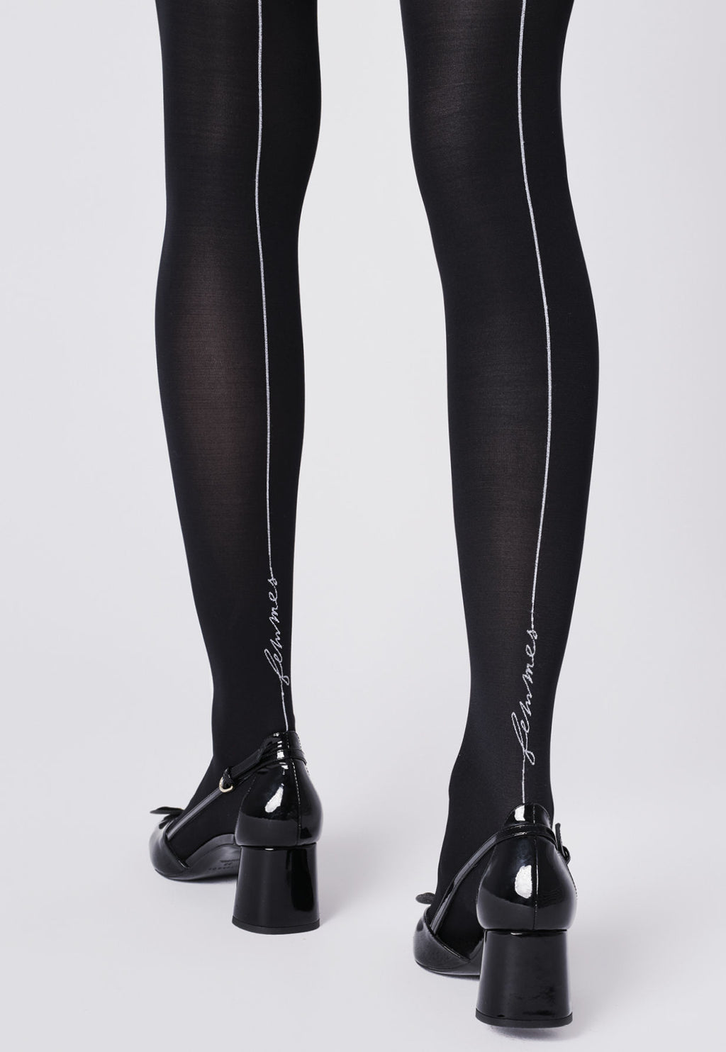 """Femmes"" Opaque Tights with White Seams by Fiore"