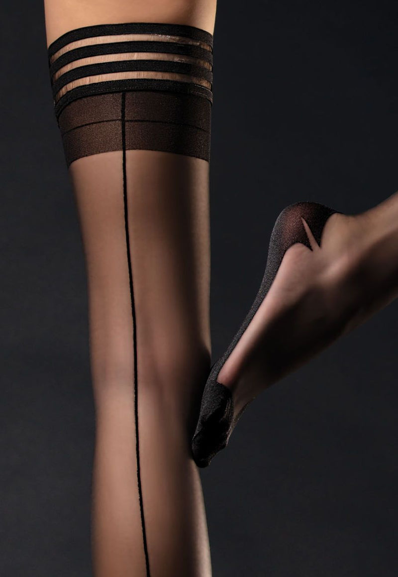 Femme Fatale 20 Den Seamed Sheer Hold-Ups by Fiore