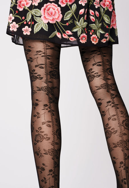 Peacock Feather Tattoo Tights by Stop & Stare