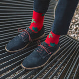 Autumn Leaves Patterned Socks in Red by More