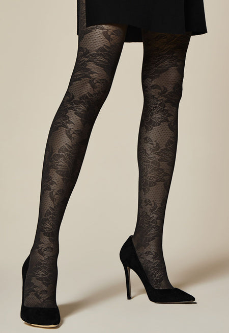 Star Avenue Opaque Patterned Tights by Fiore