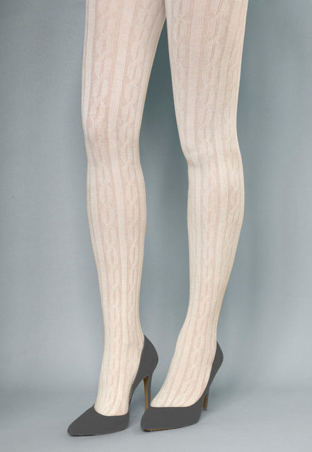 Lady Rock Whale Fishnet Striped Tights by Fiore