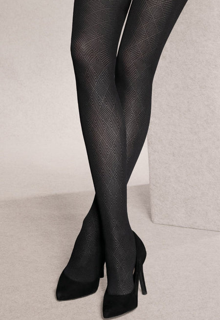 Lima 02 Lurex Stripes Sheer Hold-Up Tights by Giulia