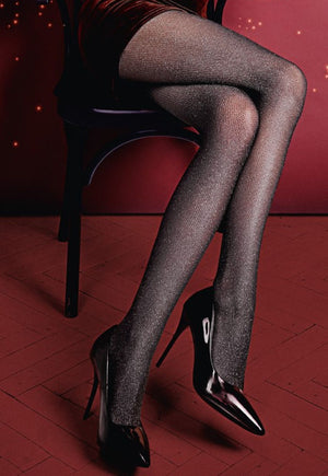 Lurex Rete Sparkly Fishnet Tights by Giulia