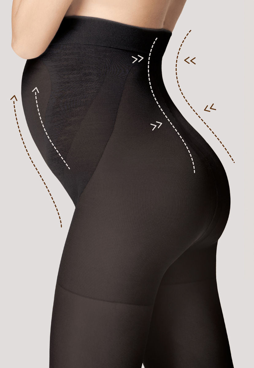 Mama 100 Denier Opaque Maternity Tights in Black