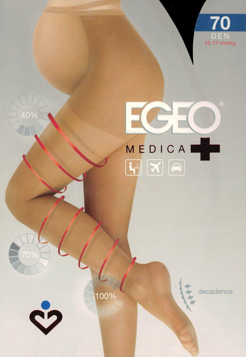 Medica 70 Den Maternity Compression Support Tights by Egeo