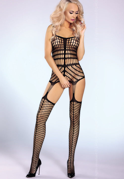 Morena Mega Fishnet Suspender Bodystocking by LivCo