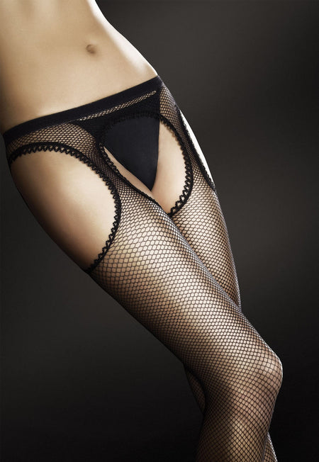 Sissi Lace Fishnet Patterned Ankle Socks by Veneziana