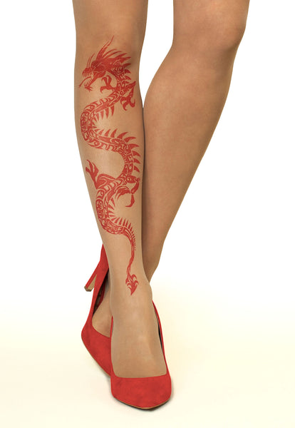 8f562fb2ab9 Red Dragon Tattoo Printed Sheer Tights at Ireland s Online Shop ...