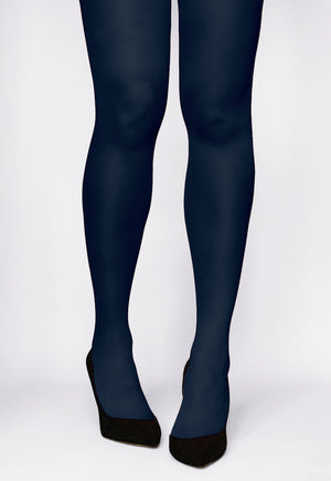 Rosalia 40 Den Coloured Opaque Tights by Gatta in blue jeans navy blue