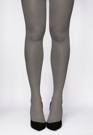 Rosalia 40 Den Coloured Opaque Tights by Gatta in grigio grey