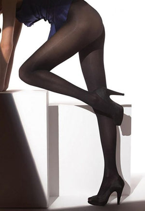 Rosalia 40 Den Coloured Opaque Tights in Black