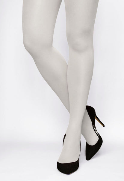 Rosalia 40 Den Coloured Opaque Tights in Bianco white