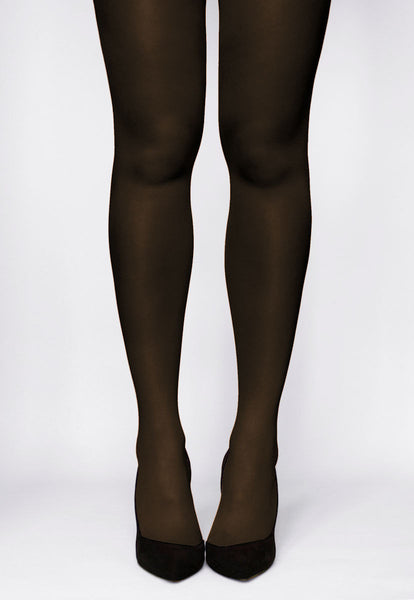 Rosalia 40 Den Coloured Opaque Tights in Caffe dark brown