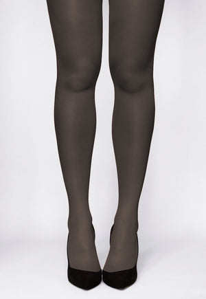 Rosalia 40 Den Coloured Opaque Tights in Grafitto grey