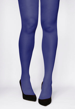 Rosalia 40 Den Coloured Opaque Tights in Indaco purple blue