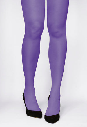 Rosalia 40 Den Coloured Opaque Tights in Iris purple