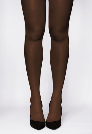 Rosalia 40 Den Coloured Opaque Tights in Moka brown