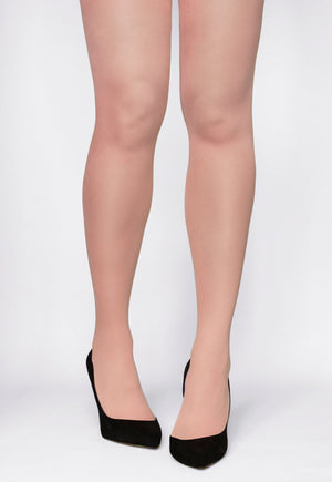 Rosalia 40 Den Coloured Opaque Tights in Pinki blush beige