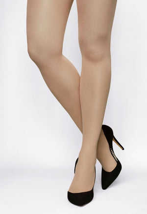 Rosalia 40 Den Coloured Opaque Tights in Toffie nude tan