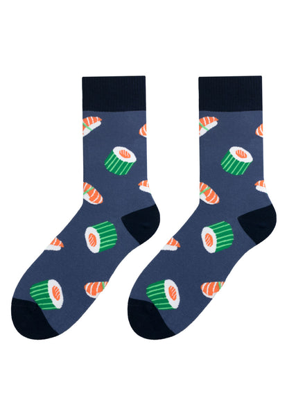 Sushi Patterned Socks in Navy Blue by More
