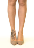 Shaded Rose Tattoo Printed Sheer Tights/Pantyhose
