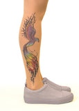 Firebird Tattoo Printed Sheer Tights/Pantyhose