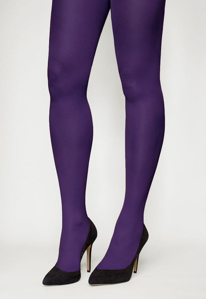 Tonic 40 Den Coloured Opaque Tights in Ink purple