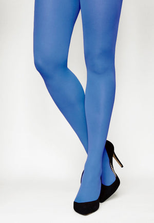Tonic 40 Den Coloured Opaque Tights in Cobalt royal blue
