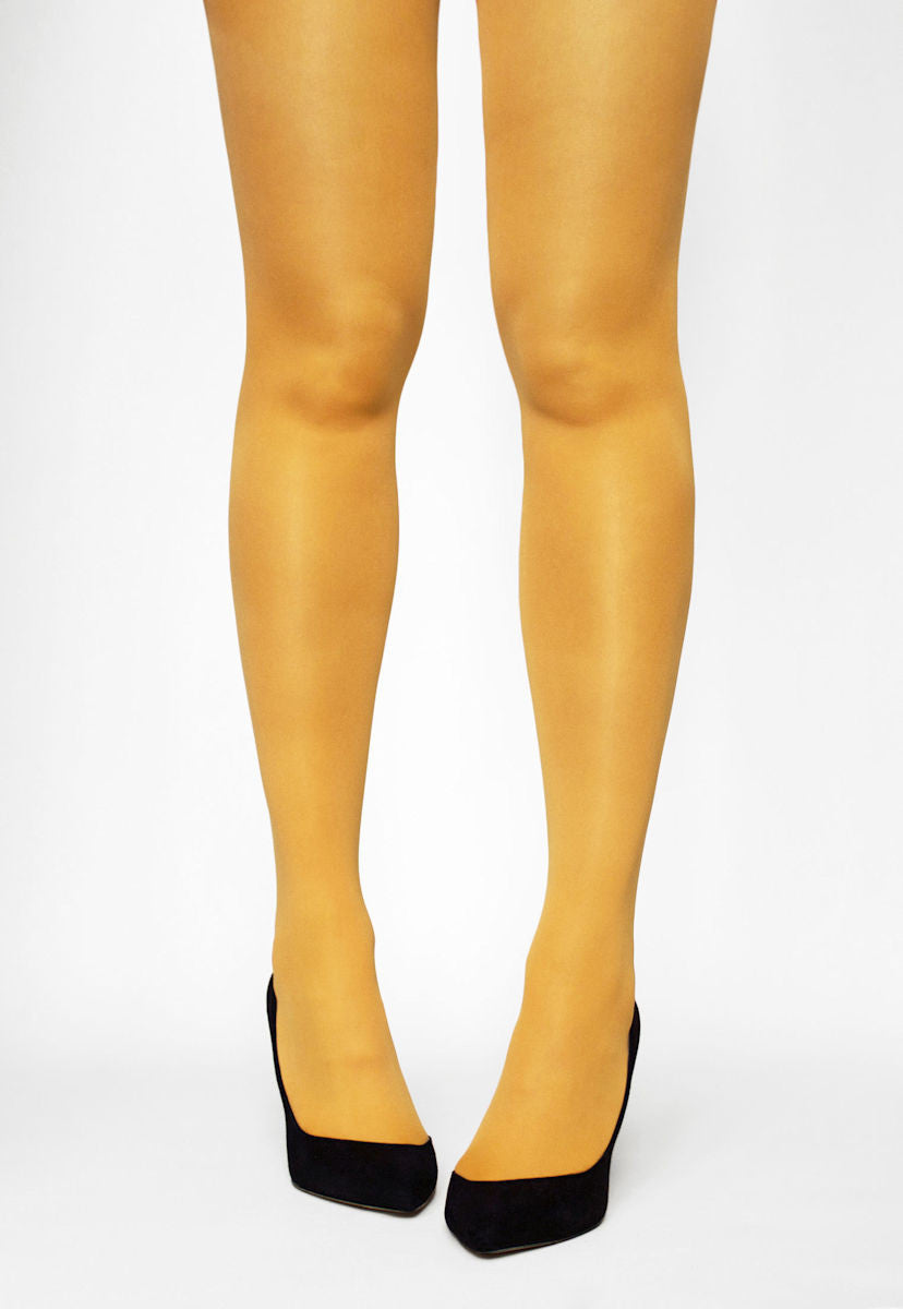 Tonic 40 Den Coloured Opaque Tights in Limone yellow