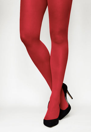 Tonic 40 Den Coloured Opaque Tights in Red