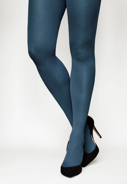 Tonic 40 Den Coloured Opaque Tights in Ocean teal blue
