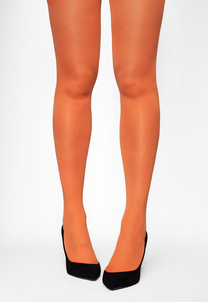 Tonic 40 Den Coloured Opaque Tights in Orange