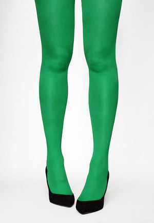 Tonic 40 Den Coloured Opaque Tights in Verde green