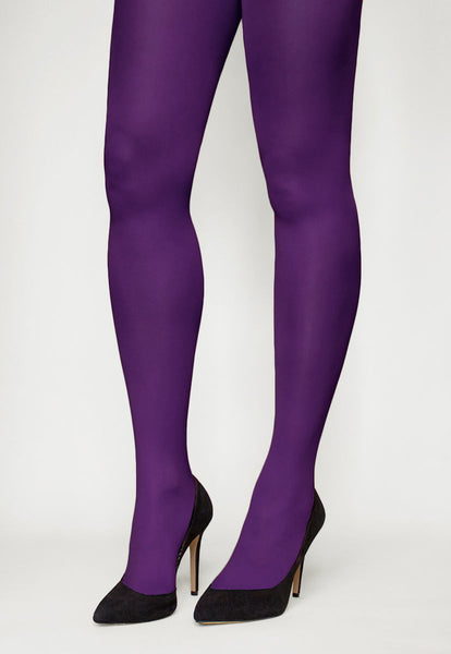 Tonic 40 Den Coloured Opaque Tights in Violet purple